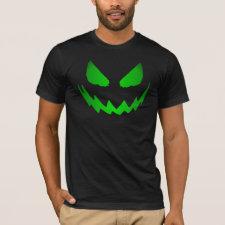 Neon Green Jack-O-Lantern Face T-shirt