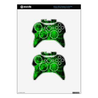 Neon Green Lace Fractal Xbox 360 Controller Skin