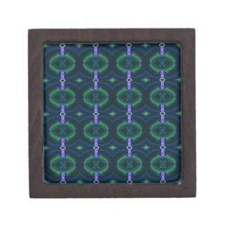 Neon Green Lavender Seamless Linked Pattern Keepsake Box