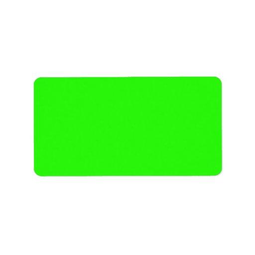 Neon Green Light Bright Fashion Color Trend 2014 Label