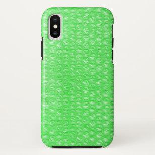 ea697b7dbb795 Neon Green Lime Mojito Mint Pop Bubble Wrap iPhone X Case