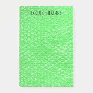 b1914f157004f Neon Green Lime Mojito Mint Pop Bubble Wrap Post-it Notes