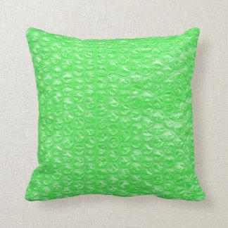 Neon Green Lime Mojito Mint Pop Bubble Wrap Throw Pillow
