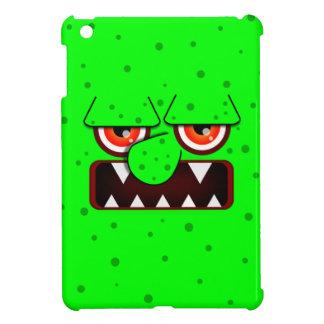 Neon Green Monster Face, Big Nose Sharp Fangs iPad Mini Covers