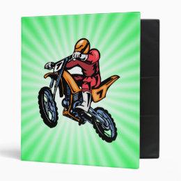 Neon Green Motocross Binder