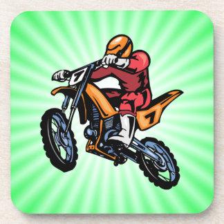 Neon Green Motocross Drink Coaster