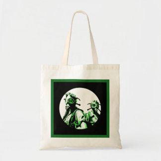 Neon Green Negative Gas Masks Tote Bag
