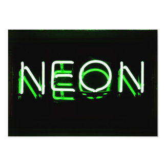 NEON - Green Neon Sign Card
