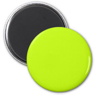 Neon Green Neon Yellow Highlighter Color Vivid 2 Inch Round Magnet