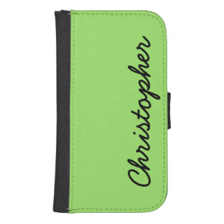 Neon Green or CHOOSE YOUR COLOR Custom for Samsung Samsung S4 Wallet Case