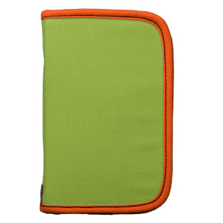 Neon Green Orange Simple Monochromatic Planner