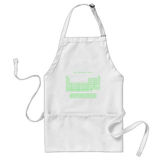 Neon Green Periodic Table Aprons