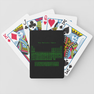 Neon Green Periodic Table Bicycle Playing Cards