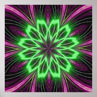 Neon Green & Pink Print