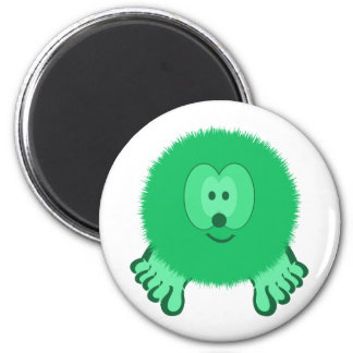 Neon Green Pom Pom Pal Magnet