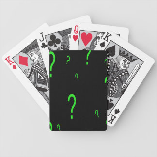 Neon Green Question Mark Bicycle Playing Cards
