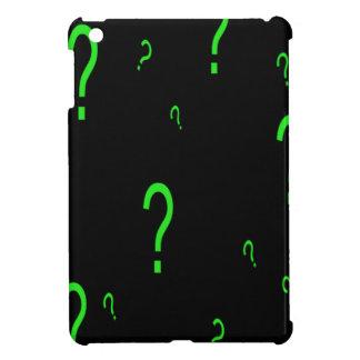 Neon Green Question Mark Case For The iPad Mini