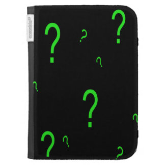 Neon Green Question Mark Cases For Kindle