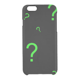 Neon Green Question Mark Clear iPhone 6/6S Case