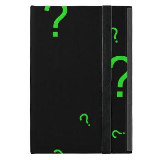 Neon Green Question Mark Cover For iPad Mini