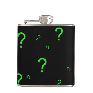 Neon Green Question Mark Flask