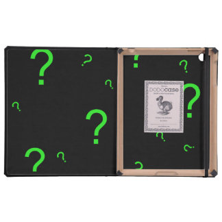 Neon Green Question Mark iPad Covers