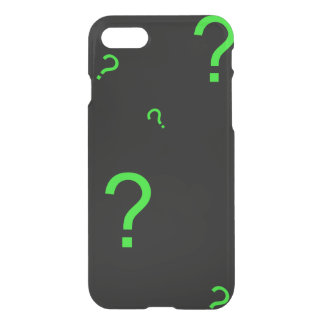 Neon Green Question Mark iPhone 8/7 Case
