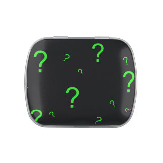 Neon Green Question Mark Jelly Belly Tins