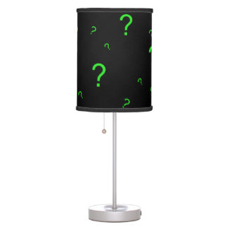 Neon Green Question Mark Table Lamps
