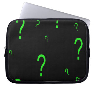 Neon Green Question Mark Laptop Sleeves