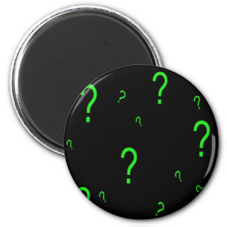 Neon Green Question Mark Magnet