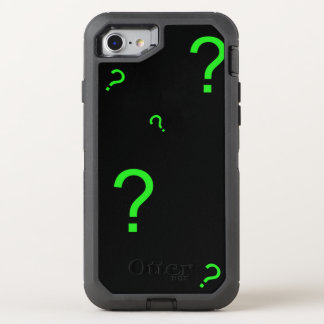 Neon Green Question Mark OtterBox Defender iPhone 8/7 Case
