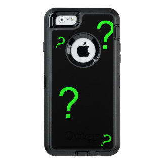 Neon Green Question Mark OtterBox Defender iPhone Case