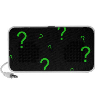 Neon Green Question Mark PC Speakers