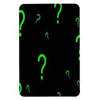 Neon Green Question Mark Rectangular Magnets