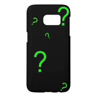 Neon Green Question Mark Samsung Galaxy S7 Case