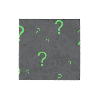 Neon Green Question Mark Stone Magnet