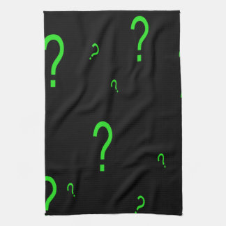Neon Green Question Mark Towels
