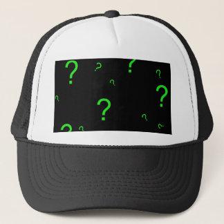 Neon Green Question Mark Trucker Hat