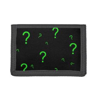 Neon Green Question Mark Wallet