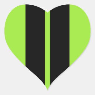 NEON GREEN RACING STRIPE CAR HOOD HEART STICKER