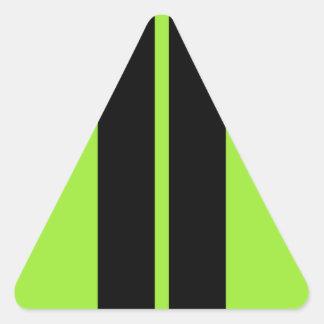 NEON GREEN RACING STRIPE CAR HOOD TRIANGLE STICKER