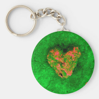 Neon Green Rock Keychain
