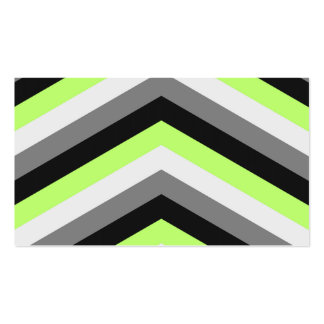 Neon Green Shades Large Chevron ZigZag Pattern Business Card