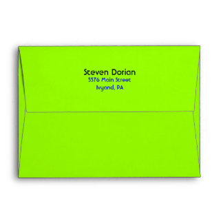 NEON GREEN SIGNS Bar Bat Mitzvah Envelope