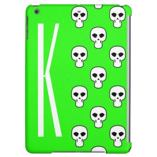 Neon Green Skulls Pattern iPad Air Case