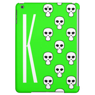 Neon Green Skulls Pattern Case For iPad Air