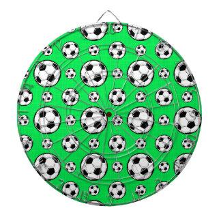 Neon Green Soccer Ball Pattern Dart Boards