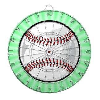 Neon Green Softball; Baseball Dart Board