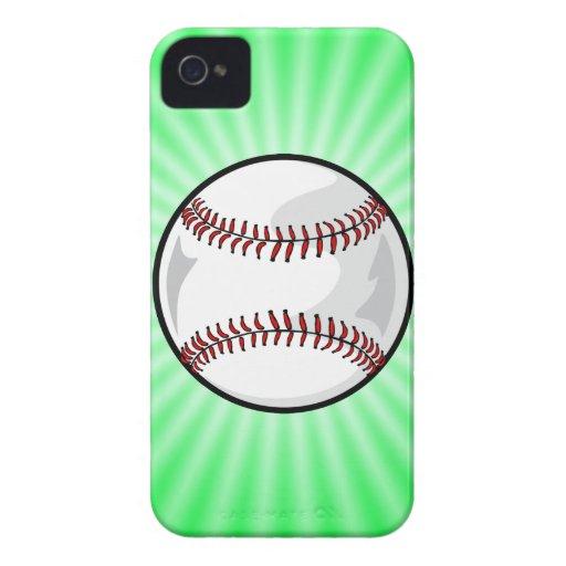 Neon Green Softball; Baseball iPhone 4 Case